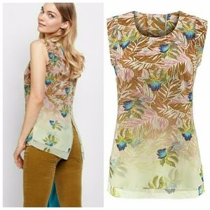 CAbi Parlop Top XL Sleeveless Tropical #5216